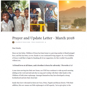 Prayer Letter Pic
